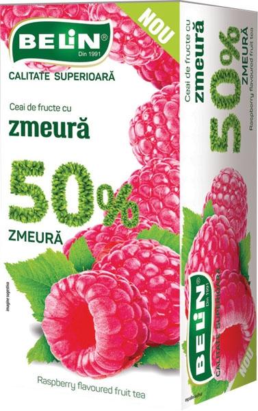 Ceai de fructe cu zmeura 50% 20pl,40gr