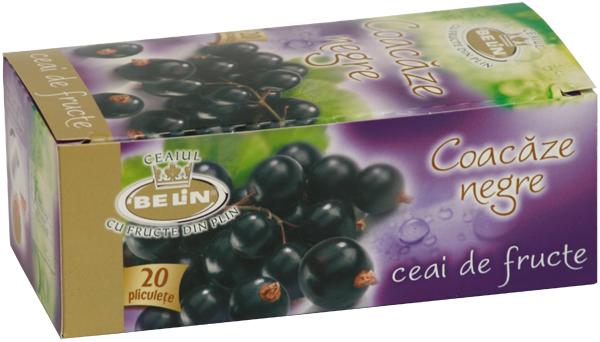 Ceai coacaze neagre 20 pl, 40 gr