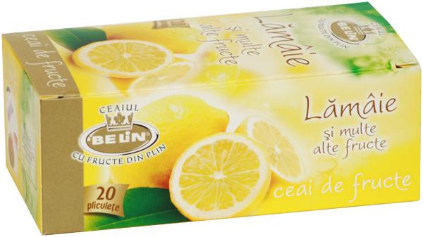 Ceai lamaie si multe alte fructe 20 pl, 40 gr