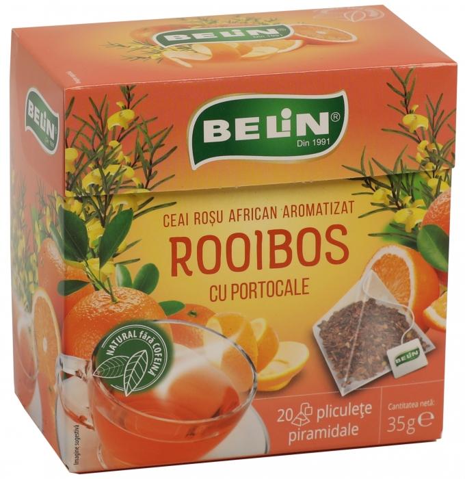 Ceai Rooibos cu portocale 20pl piramidale,35gr, 9+1 gratuit 0