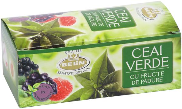Ceai verde cu aroma de fructe padure 20pl,40gr 0