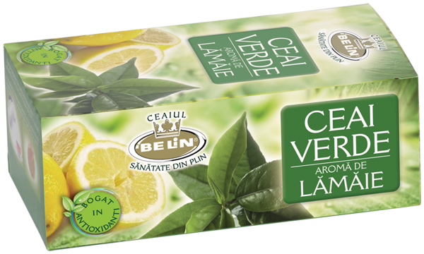 Ceai verde cu aroma de lamaie 20pl,40gr 0