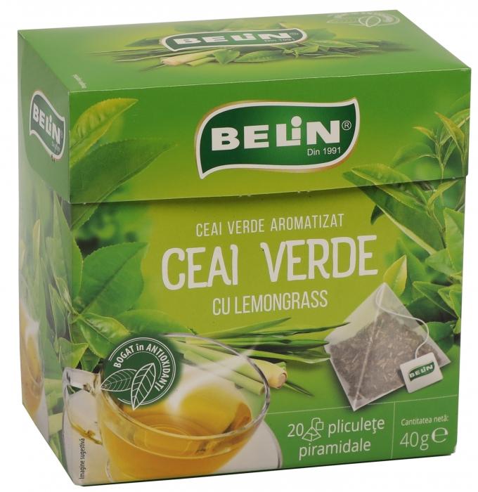 Ceai Verde cu lemongrass 20pl piramidale ,40gr, 9+1 gratuit 0