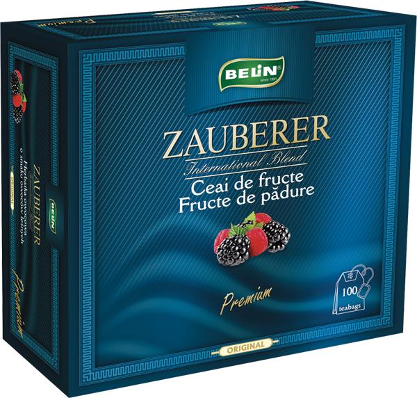 Ceai Zauberer fructe de padure snur si supraplic 100 pl, 200 gr, + 1 cutie Verde cu lamaie Zauberer gratuit 0