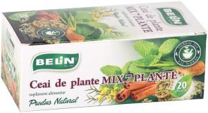 Ceai - mix 7 plante 20 pl, 36 gr